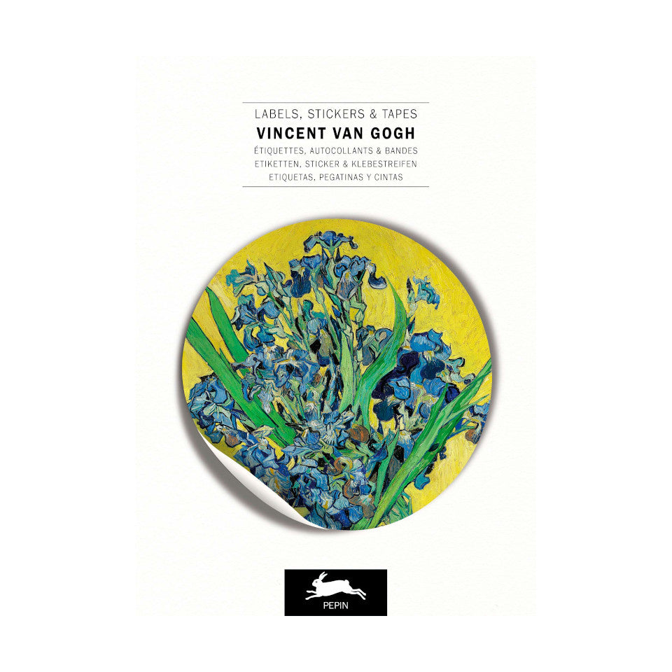 Vincent Van Gogh labels, stickers and tapes craft book, with 32 sheets.
