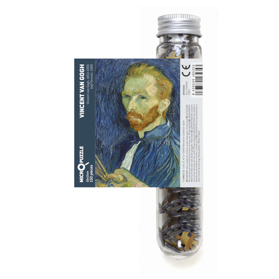 Van Gogh, Self-portrait, 150 piece micropuzzle jigsaw.