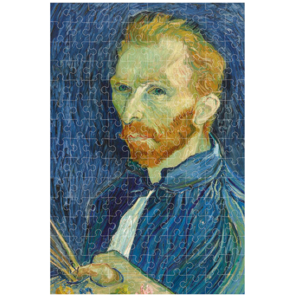 Van Gogh, Self-portrait, 150 piece micropuzzle jigsaw, made.