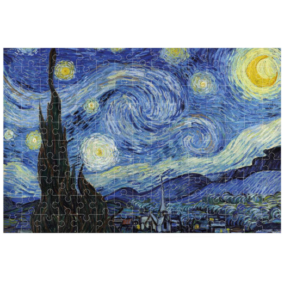Van Gogh, Starry Night, 150 piece micropuzzle jigsaw, made.