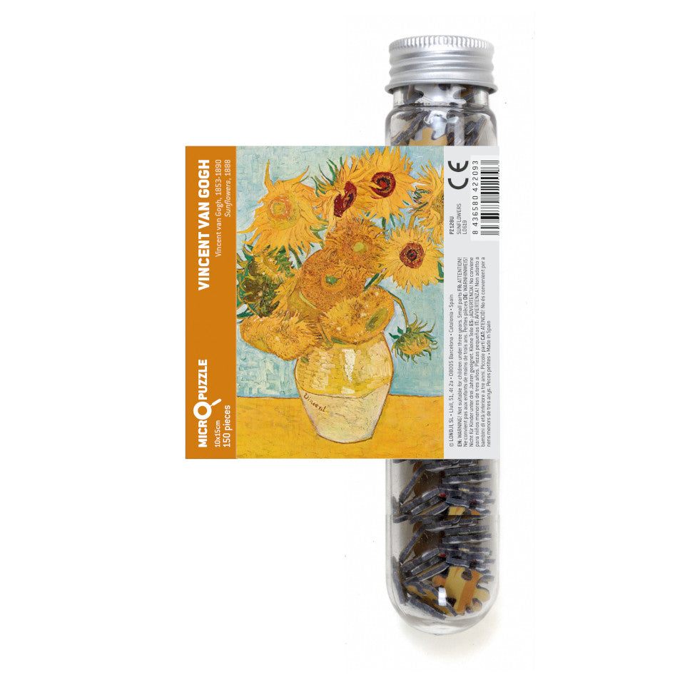 Van Gogh, Sunflowers, 150 piece micropuzzle jigsaw.
