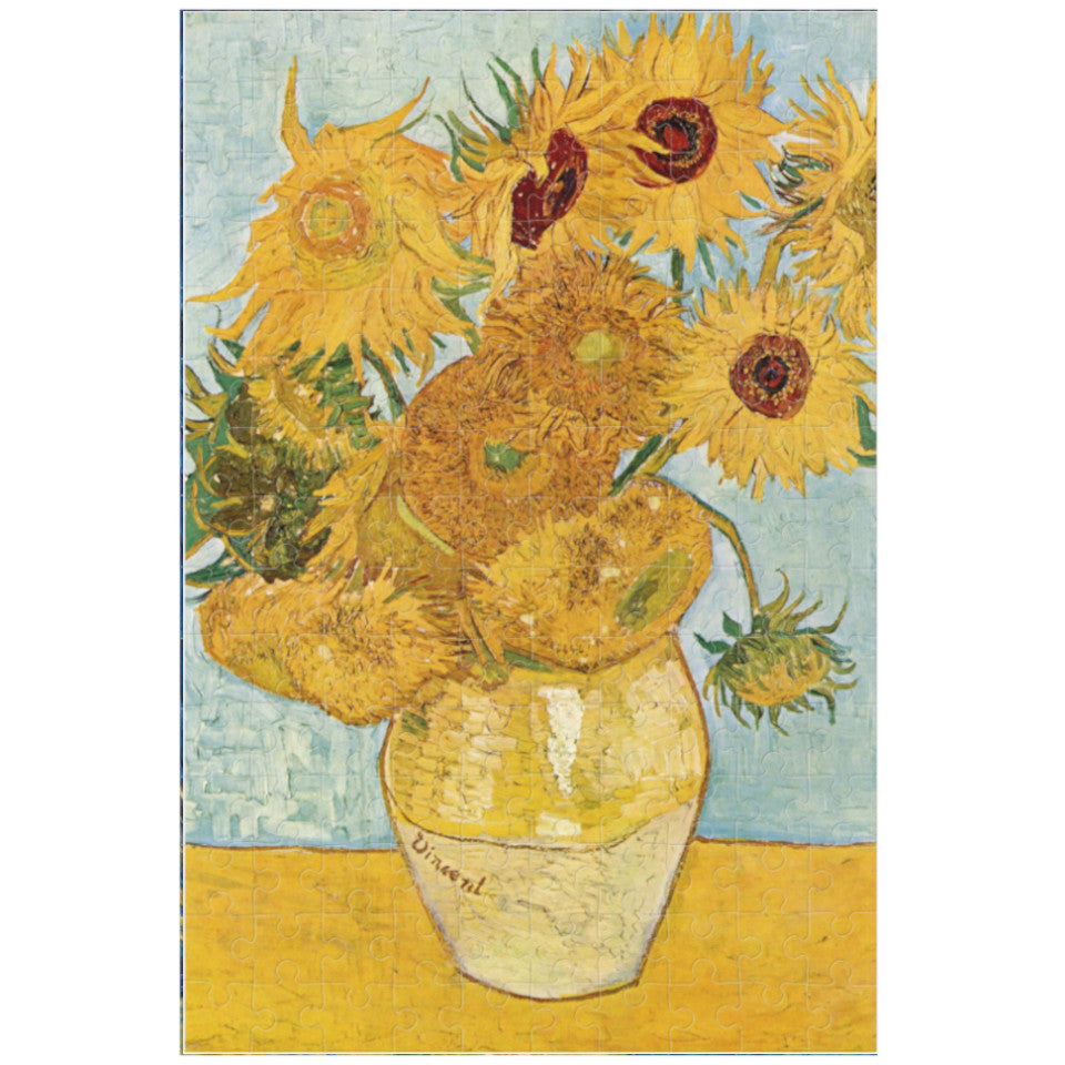 Van Gogh, Sunflowers, 150 piece micropuzzle jigsaw, made.