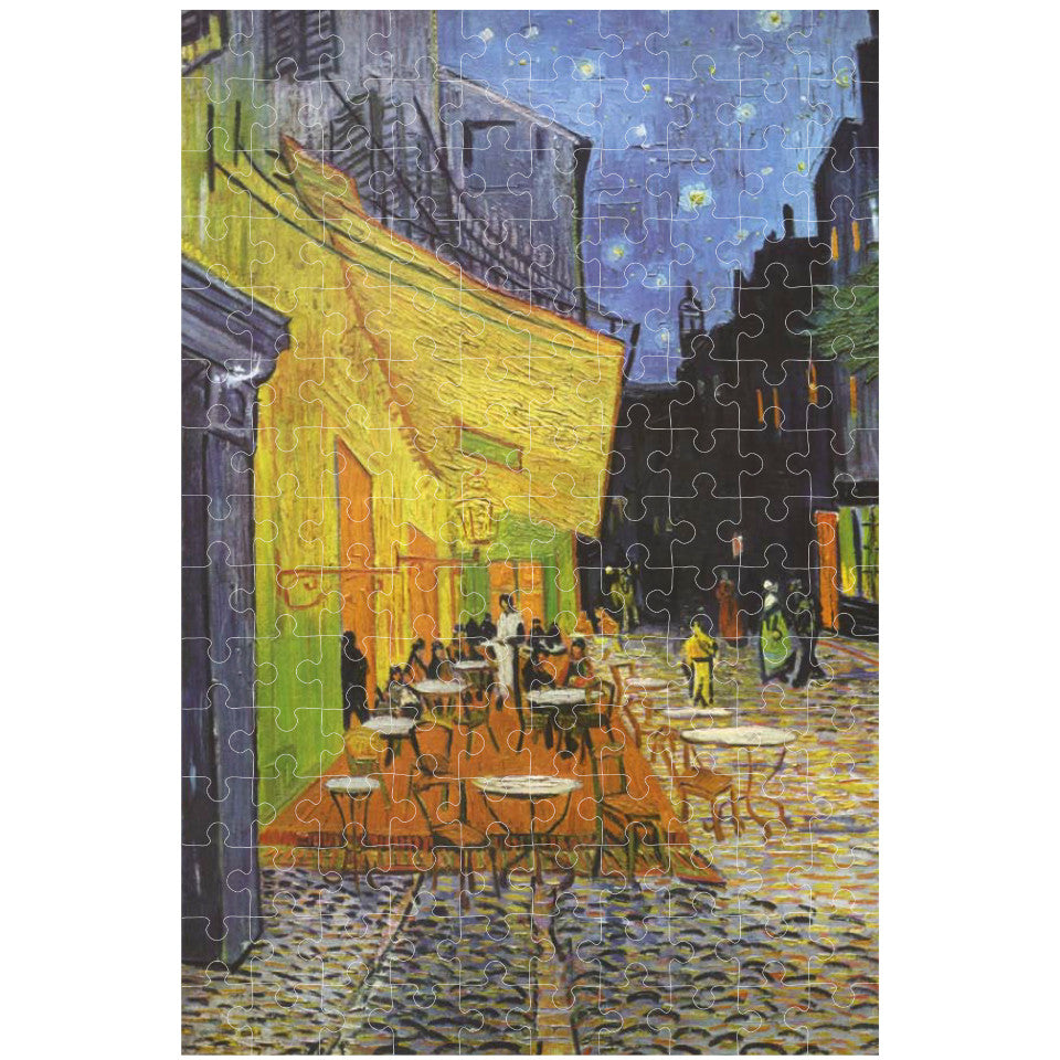 Van Gogh, Terrace of a Cafe, 150 piece micropuzzle jigsaw, made.