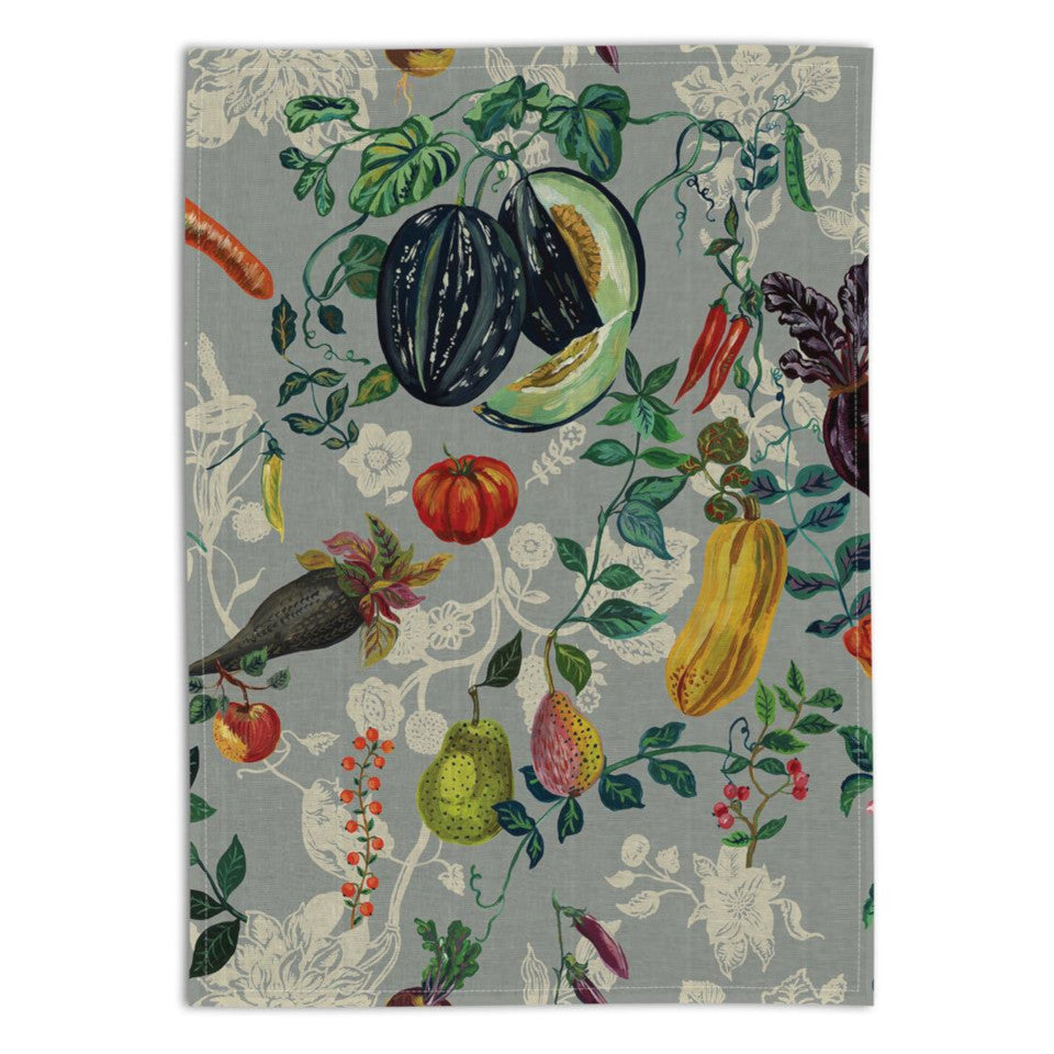 Veggies linen tea towel.