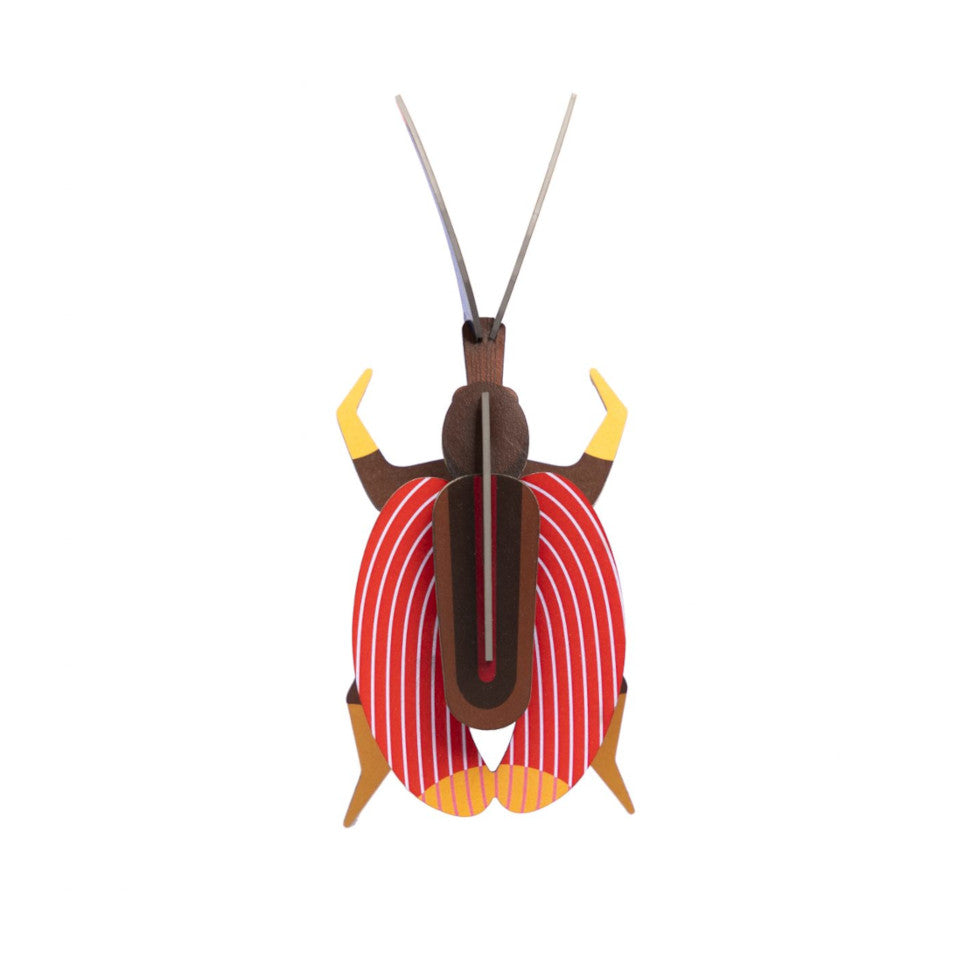 Violin beetle 3D cardboard decorative object.