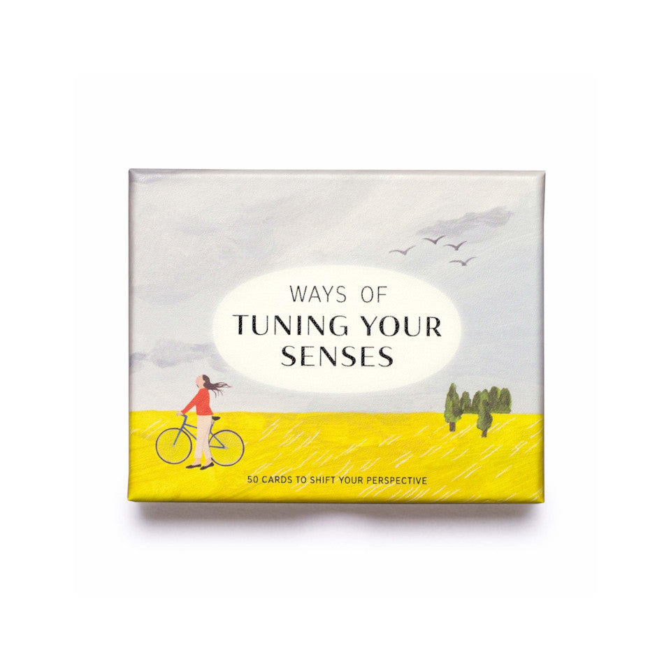 Ways of Tuning Your Senses, box of 50 suggestion cards for acknowledging your environmant and taking a break from 'the rat-race'.