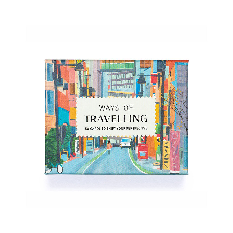 Ways of Travelling box of 50 suggestion cards for travelling at home or abroad.