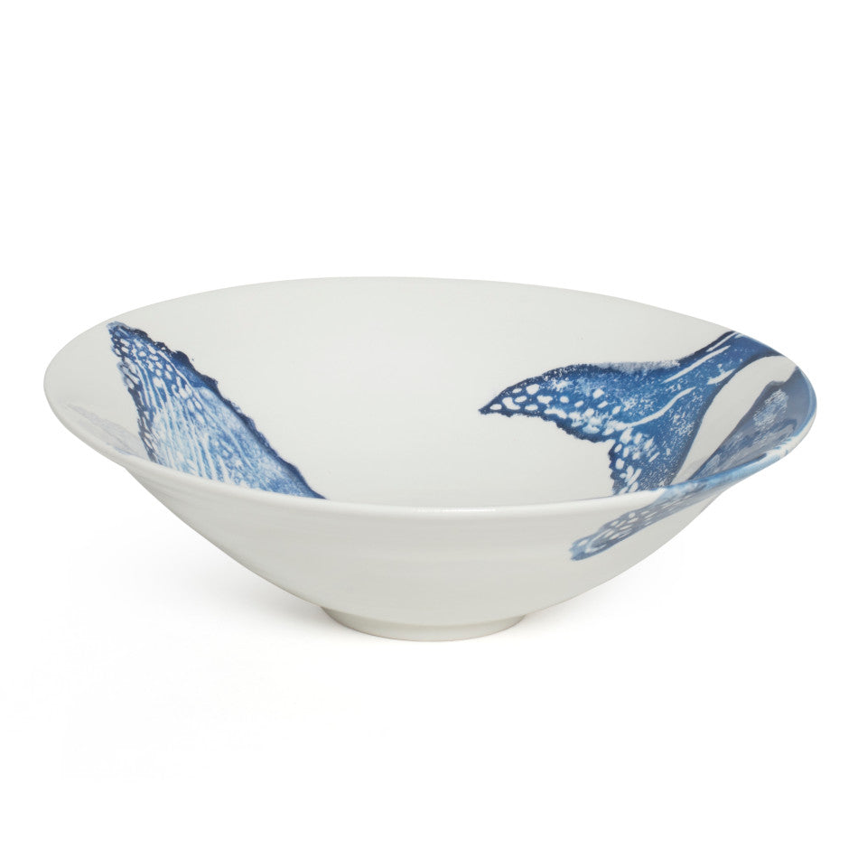 Sea Creatures earthenware Whale salad bowl, 30 cm.