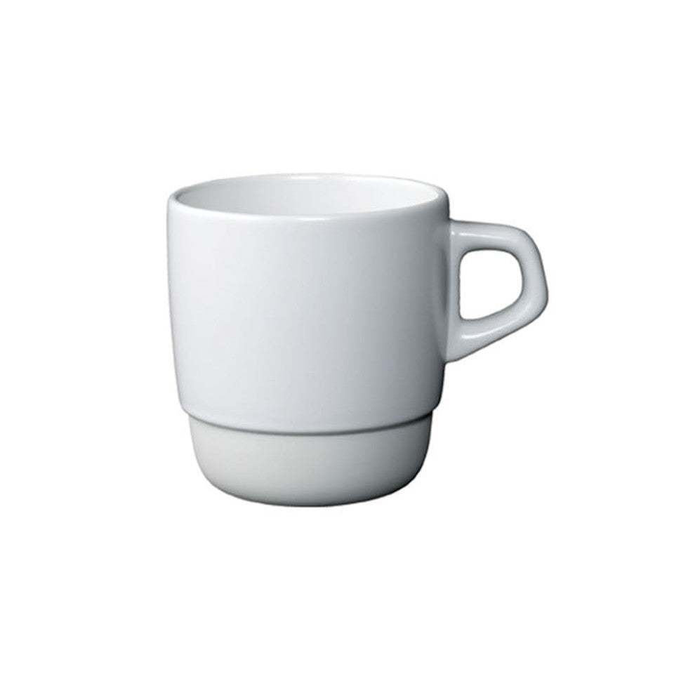 SCS stacking mug, white.