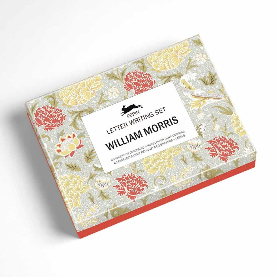William Morris letter writing set box.