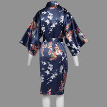 Load image into Gallery viewer, Silk navy blue kimono