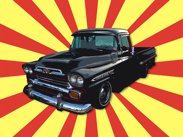 Trukkake! - Canvas - Texas Media Foundry Truck Poster Canvas