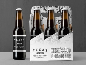 Buy us a Beer - Texas Media Foundry Truck Poster Canvas