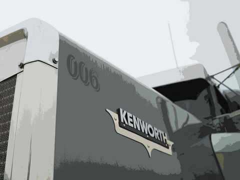 Kenworth - Canvas - Texas Media Foundry Truck Poster Canvas