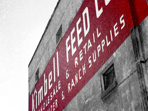 Kimbell Feeds - Texas Media Foundry Truck Poster Canvas