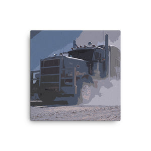 18 Wheeler Picture - Big Rig / Oil Field | Ideal gift for Truckers or 18 Wheeler Fans! Canvas Print