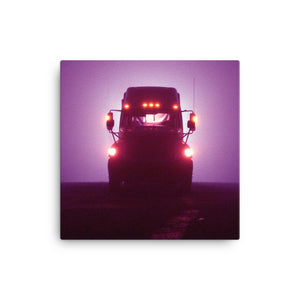 Mancave Decor - Big Rig at Night. Ideal gift for Truckers or 18 Wheeler Fans! Canvas Print
