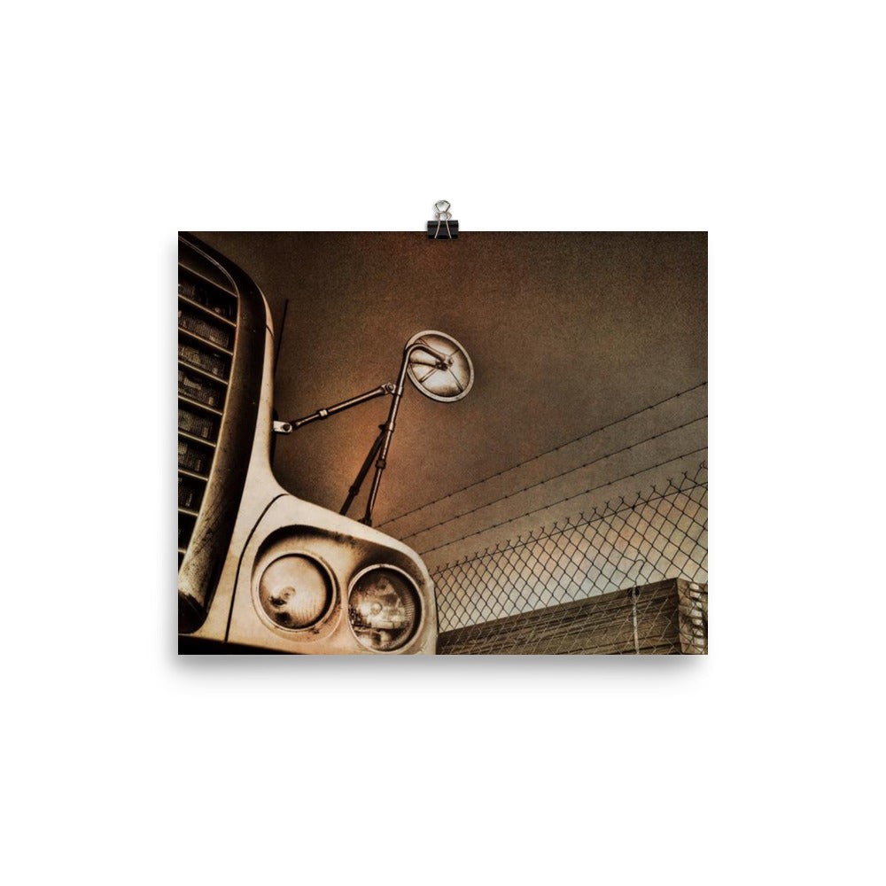 Mancave Decor - The Big Rig Waiting. Ideal Gift for Truckers or for Dad - Poster
