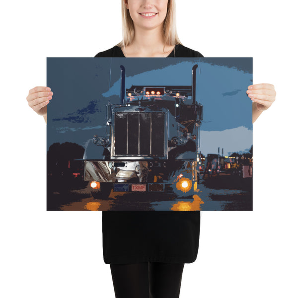Into the Night - Poster - Texas Media Foundry Truck Poster Canvas