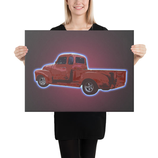 Powertruck 5000 - Canvas - Texas Media Foundry Truck Poster Canvas