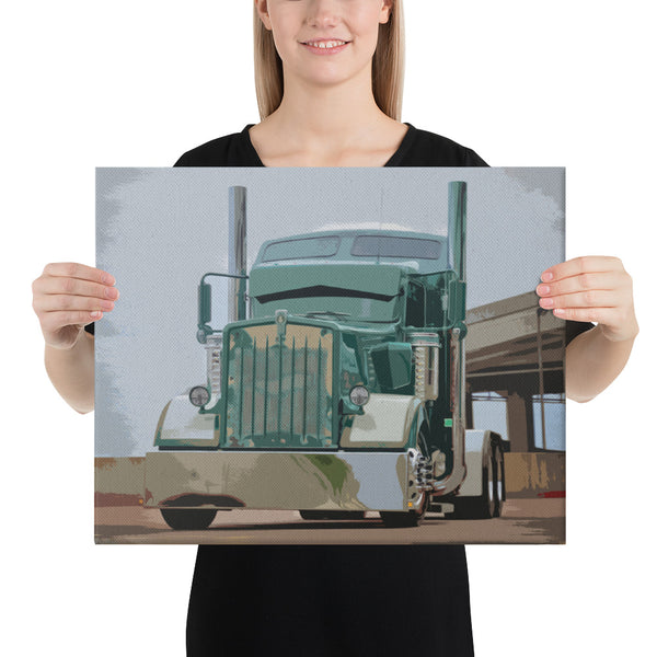 Mr. Clean - Canvas - Texas Media Foundry Truck Poster Canvas