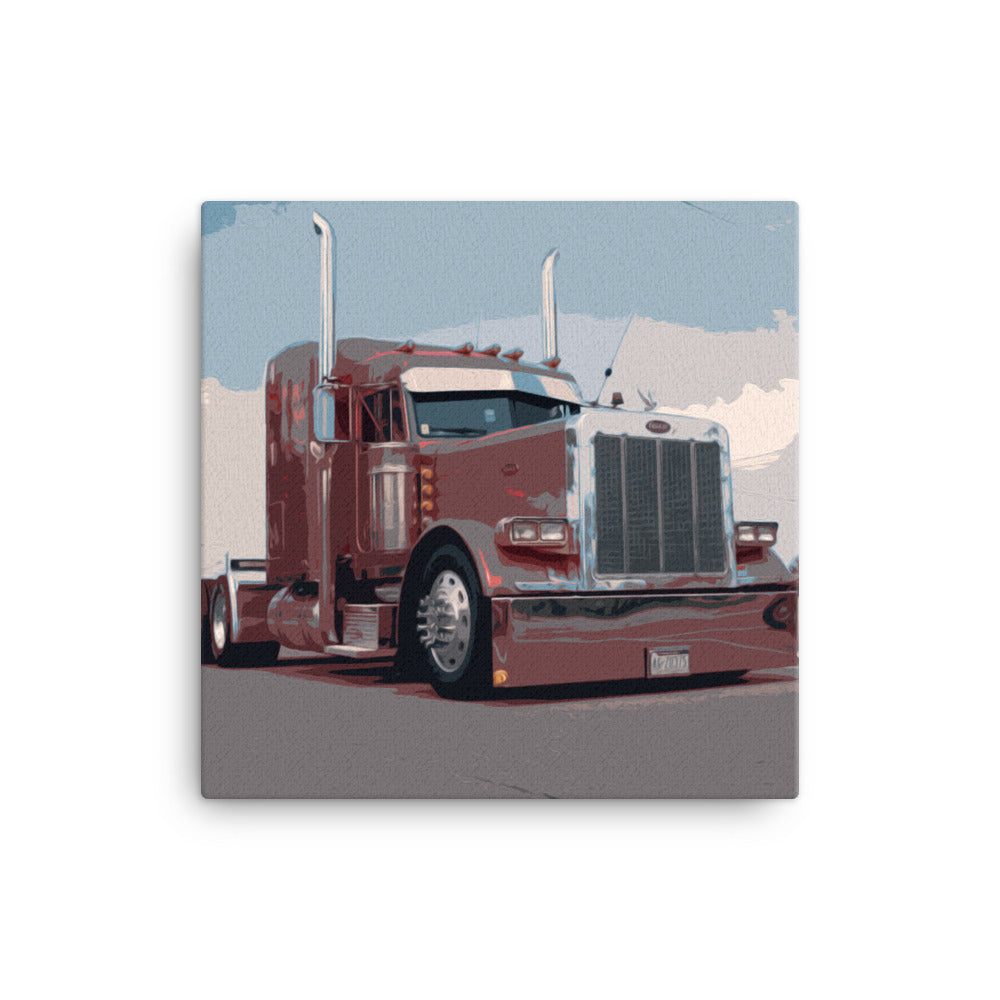 18 Wheeler Picture - Big Rig Roll Out | Ideal gift for Truckers or 18 Wheeler Fans! Canvas Print