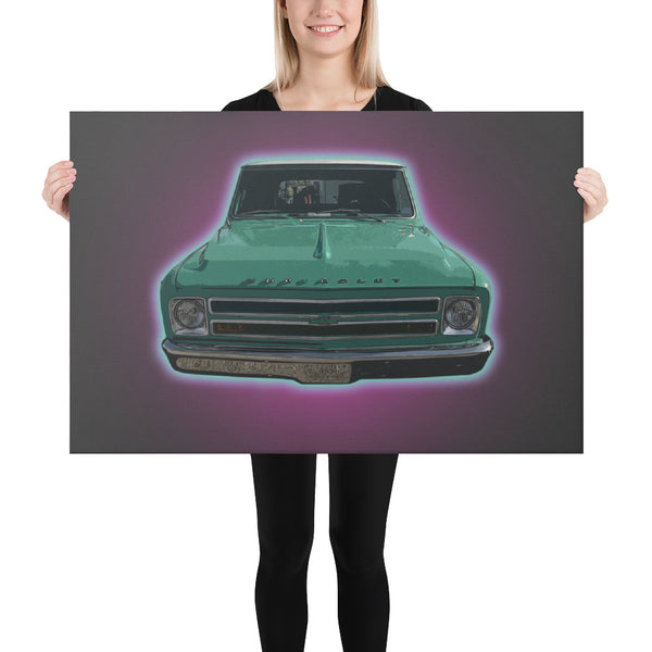 The Flying Chevrolet - Canvas - Texas Media Foundry Truck Poster Canvas