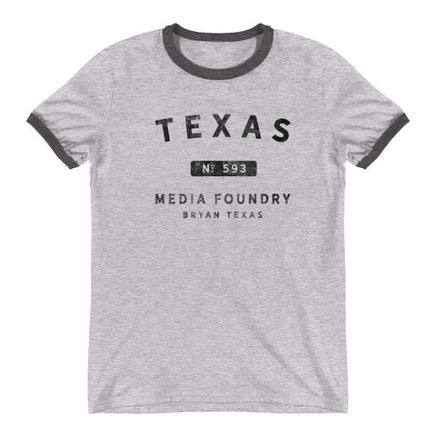 Texas Media Foundry - Ringer T-Shirt - Texas Media Foundry Truck Poster Canvas