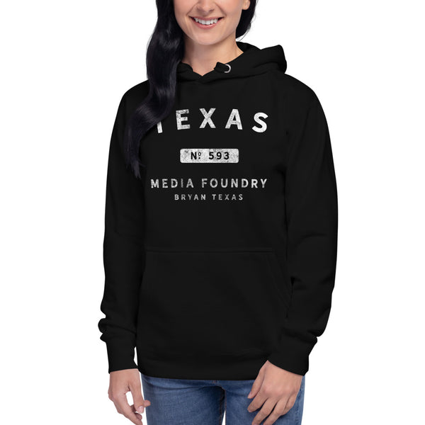 Texas Media Foundry - Premium Unisex Hoodie - Texas Media Foundry Truck Poster Canvas