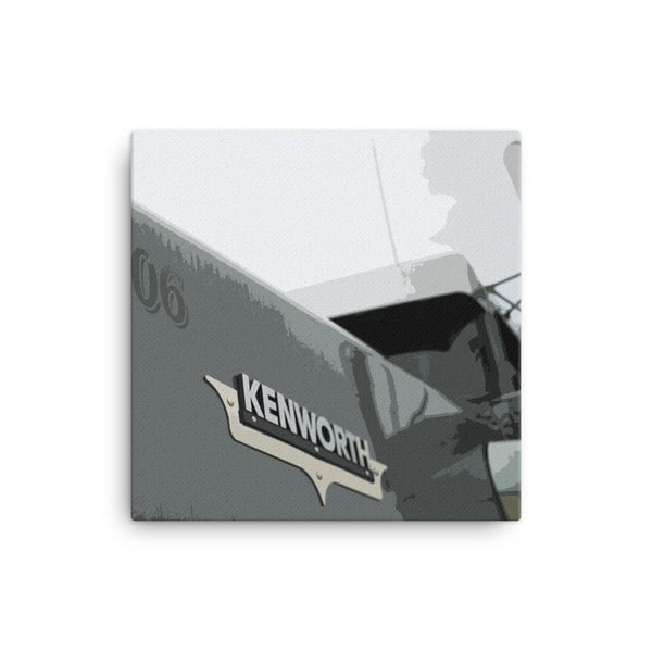 18 Wheeler Picture - Kenworth Hood | Ideal gift for Truckers or 18 Wheeler Fans! Canvas Print