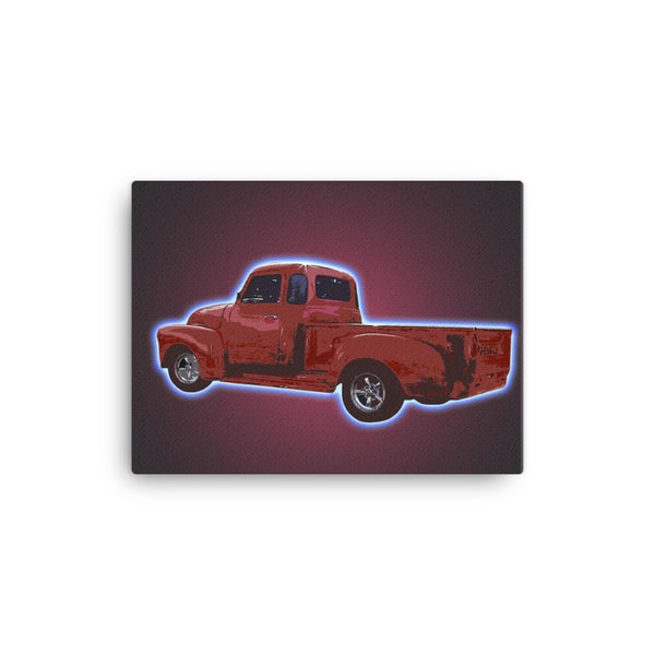 Mancave Decor | Old Truck Poster | '54 Chevy - Ideal gift for Dad or Pickup Truck Fans! Canvas
