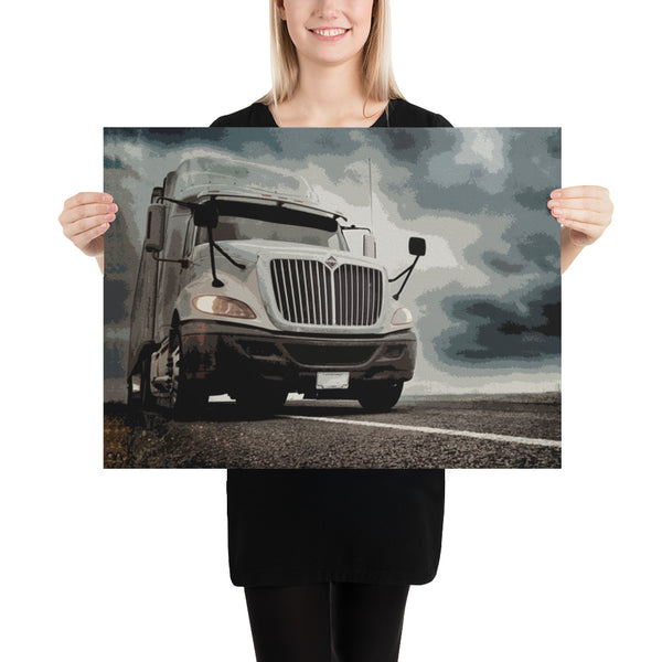 Dark Skies - Poster - Texas Media Foundry Truck Poster Canvas