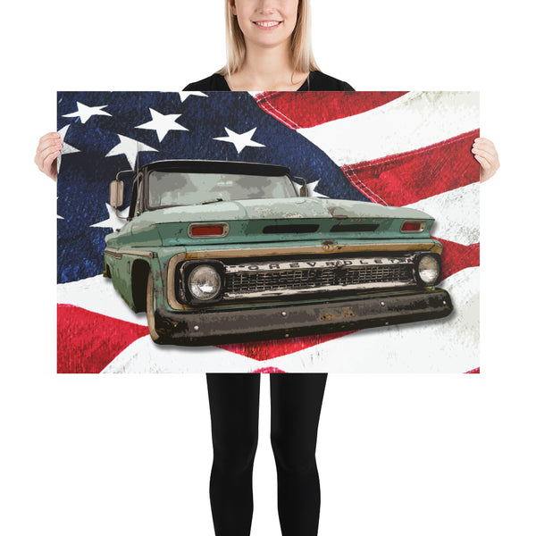 The American - Poster - Texas Media Foundry Truck Poster Canvas