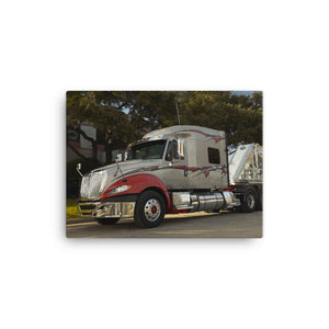 18 Wheeler Picture - Chrome Big Rig. Ideal gift for Truckers or 18 Wheeler Fans! Canvas Print