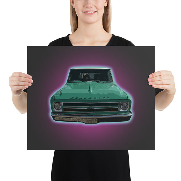 The Flying Chevrolet - Poster - Texas Media Foundry Truck Poster Canvas