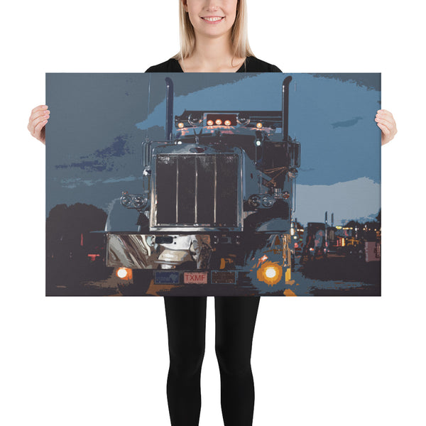 Into the Night - Canvas - Texas Media Foundry Truck Poster Canvas