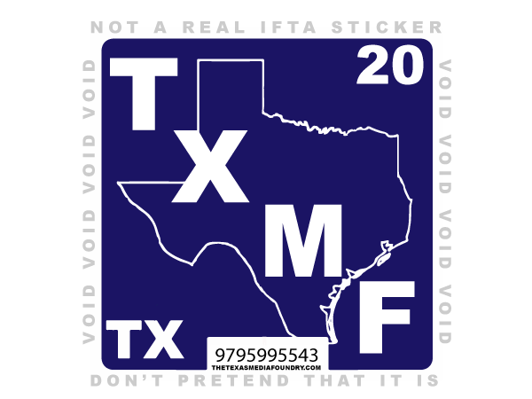 TXMF Logo Stickers - FREE! - Texas Media Foundry Truck Poster Canvas