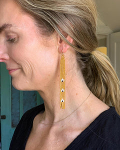 Hand Beaded Petite Duster Earrings