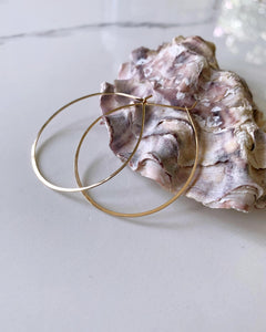 Hammered Classic Hoop Earrings