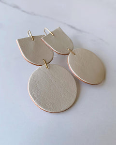 "Recycled Leather Earrings ""Mocu"""