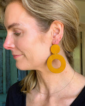 "Load image into Gallery viewer, Recycled Leather Earrings ""Stela"""