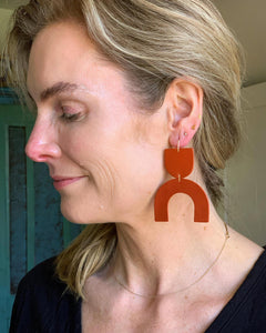 "Recycled Leather Earrings ""Cozumel"""