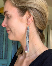 Load image into Gallery viewer, Hand Beaded Multi-Color Duster Earrings