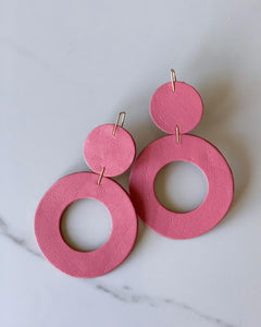 "Recycled Leather Earrings ""Stela"""