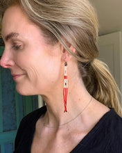 Load image into Gallery viewer, Hand Beaded Tinsy Duster Earrings