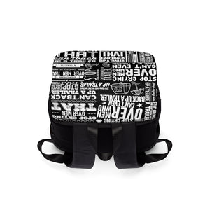 Stop Crying Over Men... - Casual Shoulder Backpack
