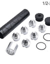 Solvent Trap Kit 1/2''-28 Solvent Trap Fuel Filter for NAPA 4003 WIX 24003 Black Pattern