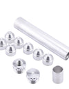 "Solvent Trap Kit 1/2-28 Solvent Trap Fuel Filter for NAPA 4003 WIX 24003, Silver, Aluminum, 11 Pcs, 6"" L, 1.050"" OD, 7/8"" ID"