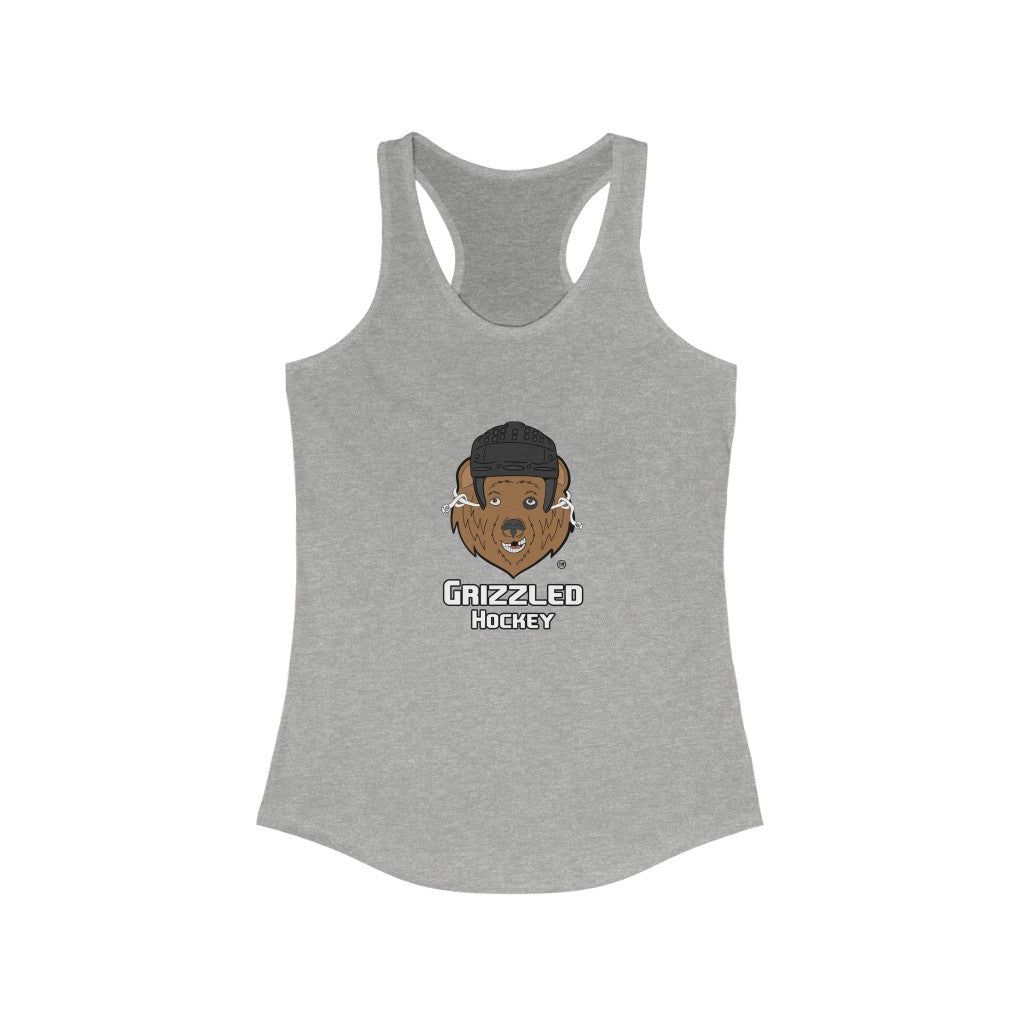Women's Grizzled Hockey Racerback Tank