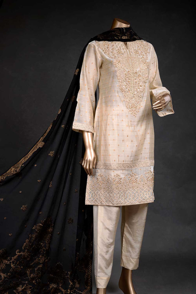 Dusky Brio (EM-1A) | 3 Pc Mysoori Embroidered Dress with Handicraft Pearl work